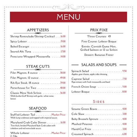 menu sle template imenupro 183 restaurant menu templates menu software