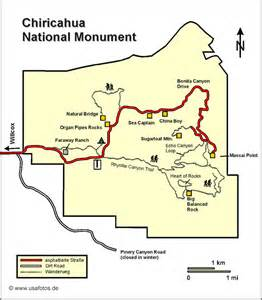 arizona national monuments map chiricahua national monument karte chiricahua national