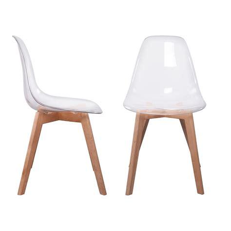 Chaise Scandinave by Lot De 2 Chaises Design Scandinaves Pas Cher Pieds Bois