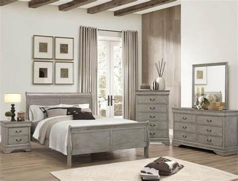 louis philip cherry 4pc sleigh bedroom set queen nader s furniture grey louis philip bedroom set bedroom furniture sets