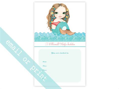 Birthday Invitation Email Template 27 Free Psd Eps Format Download Free Premium Templates Mermaid Birthday Invitation Templates