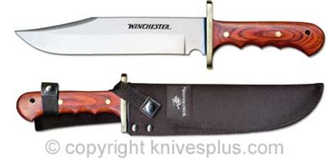winchester buck knife winchester knives winchester large bowie knife wood