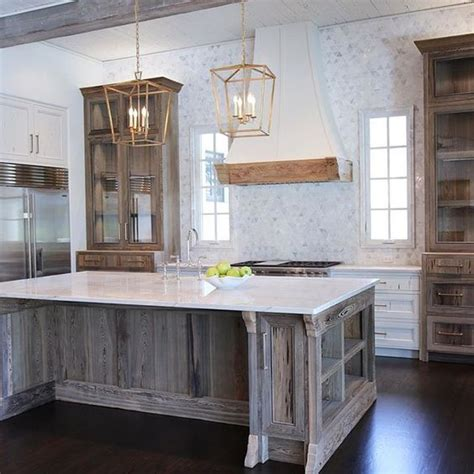 wonderful white finished large kitchen island with sink added plus step into this beautifully rustic cottage kitchen