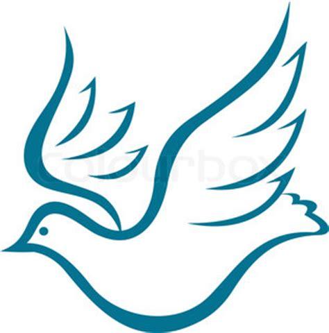 set vogel symbole als konzept des friedens stock vektor