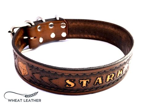 personalized collars personalized leather collar personalised by wheatleather