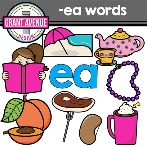 clipart words grant avenue design vowel teams clipart ea vowel