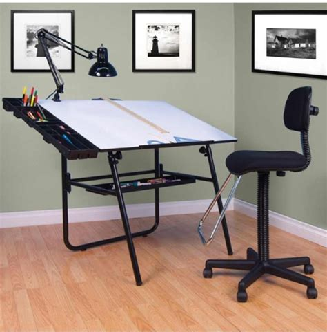 Drafting Table Supplies Studio Designs 4 30 Quot X 42 Quot Ultima Drafting Table Set Base Color Black 19645
