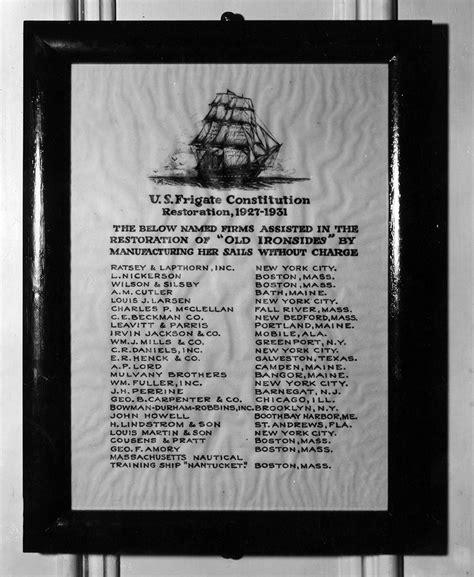 suit of sails uss constitution suit of sails uss constitution museum