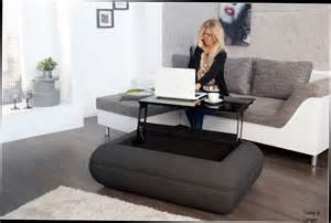 table basse relevable avec coffre table basse design tissu