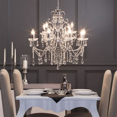 light madonna chandelier  chrome victorian dining
