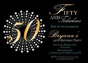 50th Birthday Invitations Templates by Fifty And Fabulous Birthday Invitations 50th Birthday