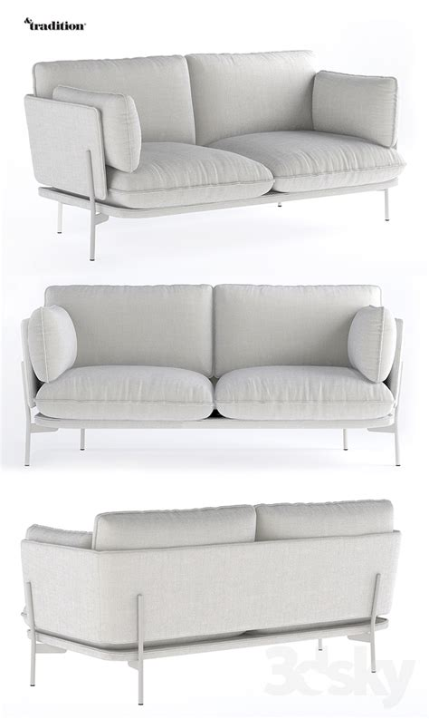 cloud 2 sectional 3d models sofa andtradition cloud 2 seater sofa