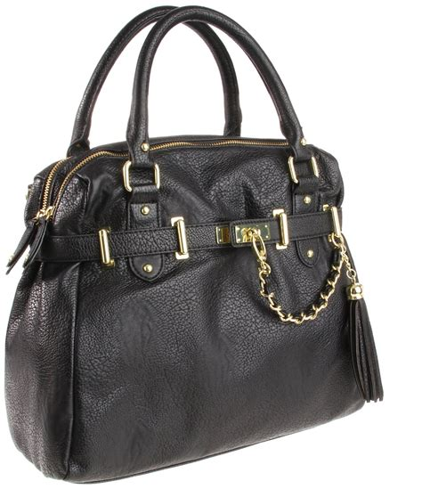 steve madden black bneptune w removable cross satchel handbag purse ebay