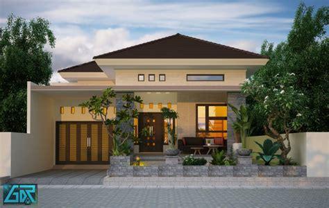 denah rumah type  ukuran  meter jasa desain rumah