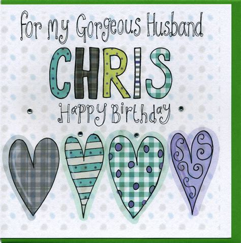 Personalised Birthday Cards For Husband Personalised Husband Birthday Card By Claire Sowden Design