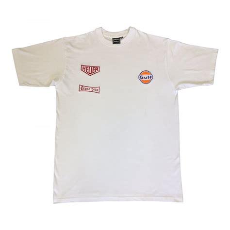 T Shirt Gulf grandprix originals gulf heuer racing t shirt white