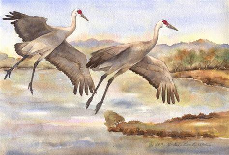 crane painting vickie s sketchbook sandhill cranes and