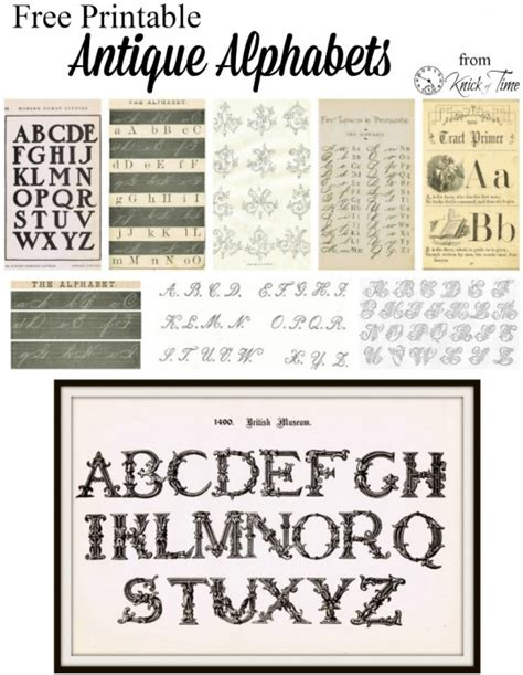 printable letters vintage antique alphabet font from early 1900 s knick of time