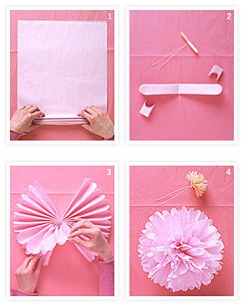 papier pompons basteln como fazer pompom de papel de seda passo a passo