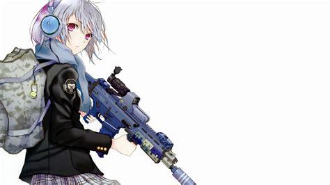 wallpaper anime girl gun anime girl gun wallpaper