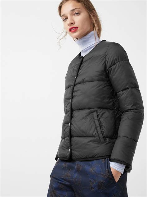 Mango Quilted Black by Mango Quilted Puffer Jacket Black S18w6n6 Spree Co Za