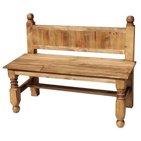 mexican benches rustic pine collection largelyon bench ban100