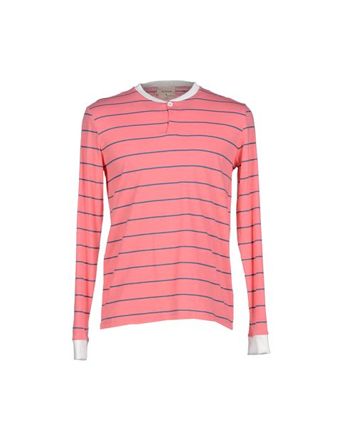 Lian Stripe Band Small Wallet Pink band of outsiders t shirt in pink for