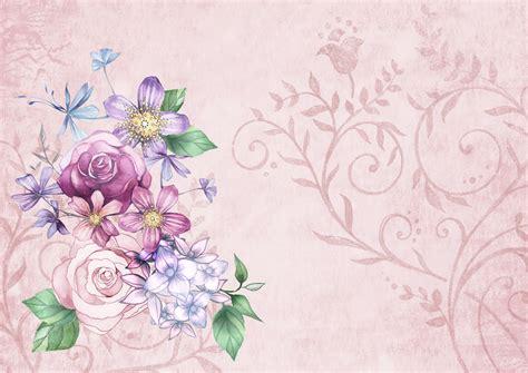 Flower Floral Vintage vintage flower background paper free stock photo