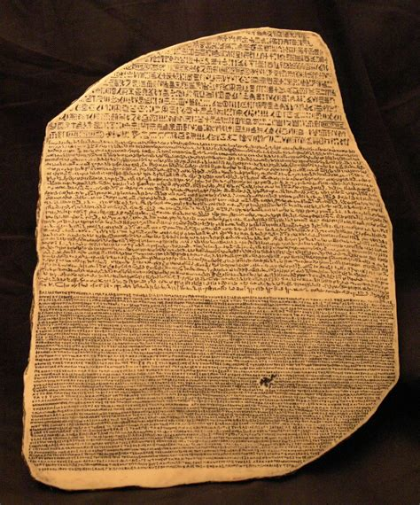 rosetta stone deciphered writing
