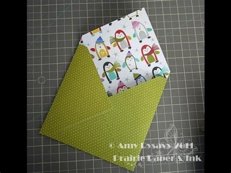 How To Make An Envelope With 12x12 Paper - an envelope for a square card
