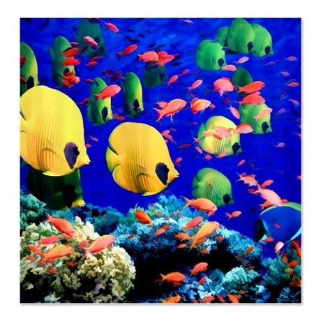 Tropical Fish Shower Curtain by Undersea Coral Tropical Fish Shower Curtain On
