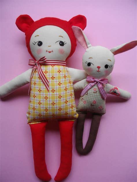 baby plushie kawaii handmade vintage inspired rag