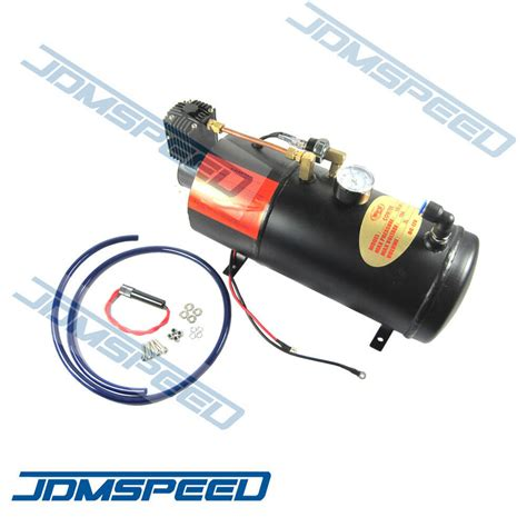 12v 150psi truck on board air horn air compressor with 3 liter tank ebay