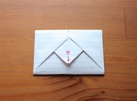How Do You Fold Paper Into An Envelope - how to fold origami notes for valentines day like you did