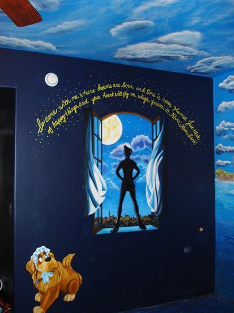 peter pan bedroom childrens room theme mural peter pan from skywoods
