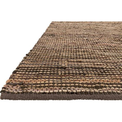 leather woven rug uzo coastal brown jute leather woven rug 3 6x5 6 kathy kuo home