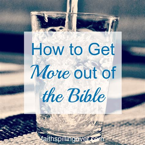 getting more out of mass something more faith series books how to get more out of the bible faith spilling