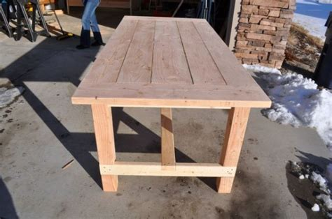 Diy Pete Farmhouse Table by Farm Table Before Staining Diy Projects With Pete