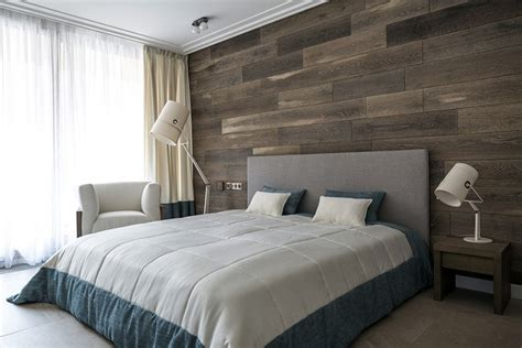wooden wall bedroom tips to install wood plank walls with simple ways