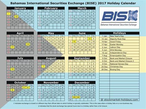 Bahamas Calend 2018 Bahamas International Securities Exchange 2017 2018
