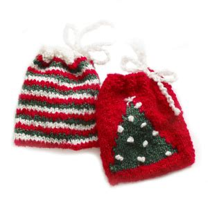 knitting patterns galore holiday gift bag set
