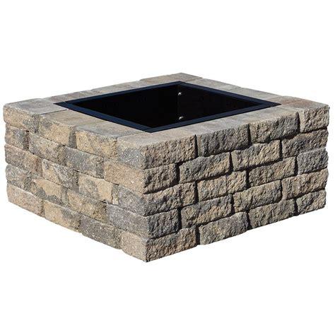 square pit kit pavestone splitrock 38 5 in w x 17 5 in h square