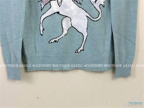 Sale 7365 Sweater Blue Unicorn 229 nwt wildfox couture white label unicorn crew neck