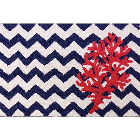 Coral Accent Rug | chevron and coral accent rug