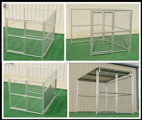 prefab fence sections steel wire round tube welded dog pens modular fence panels