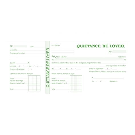 Modele Quittance De Loyer