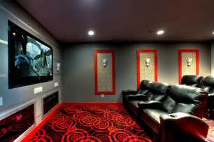 Home Theater Wall Sconces Ruby Dottie Joy Carpet Theater Room Modern Home