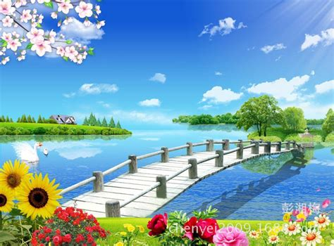 Rainbow Wall Sticker aliexpress com buy natural scenery wallpaper mural wall