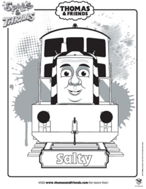 salty train coloring page salty colouring in picture thomas friends ichild