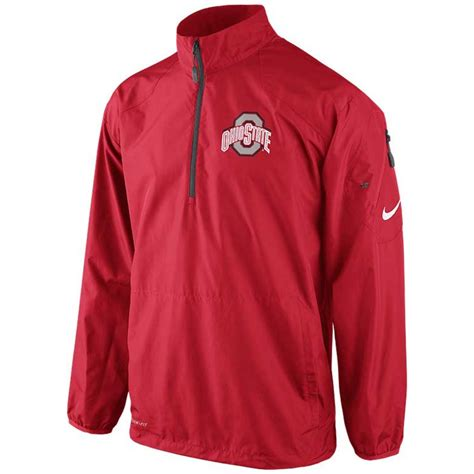 Nike Hoody Jaket Nike Wanita Jaket Nike Pria Jaket Nike Ori lyst nike mens ohio state buckeyes halfzip pullover jacket in for